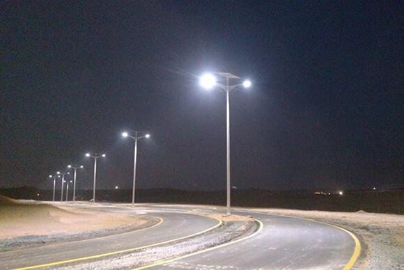Island Road Lighting Project in Dubai