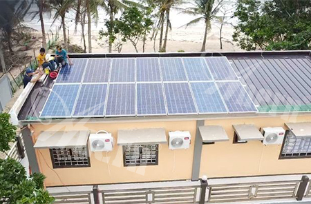 8KW Off-grid Solar Power System for Beach Resort in Philippines